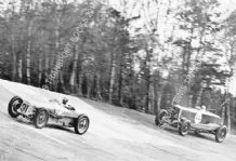 Delage 15 S 8   Earl Howe  leads Eyston's Panhard Brooklands c.1931